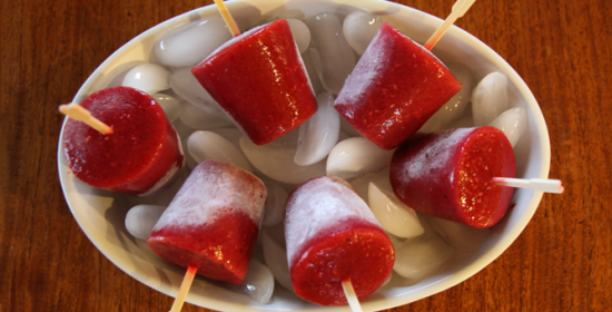 Raspberry-lime Ice Pops wider