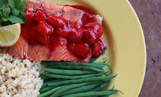 Strawberry Sauce Salmon Recipes