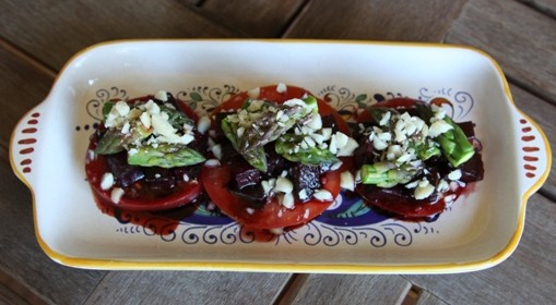 Tomato and beet salad1