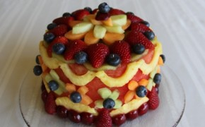 birthday cake alll fruit