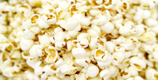 healthier air popped popcorn