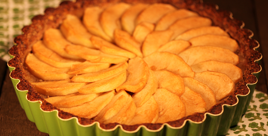 Apple Tart gluten free refined sugar free