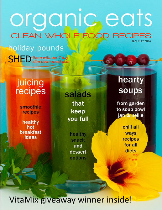 free online diet and recipe magazine organic eats January issue