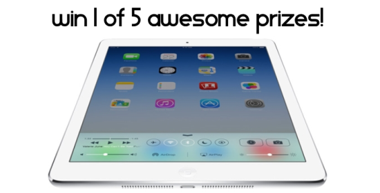 New January Prize Giveaway win 1 of 5 prizes including an Apple iPad Air 16gb and a VitaMix Turbo VS