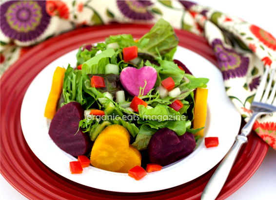 Heart Shaped Beet Salad