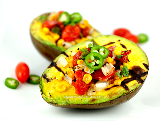 Grilled Avocado with Roasted Tomatoes free online recipe magazine