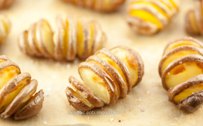 Baked Fingerling Potato Fry Rounds