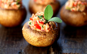 Vegan Stuffed Mushrooms Appetizer