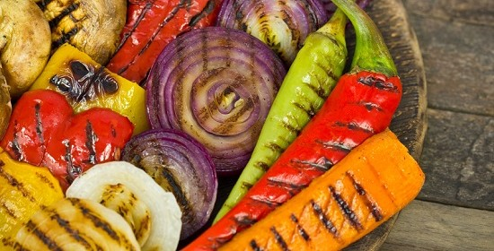 Grilled Vegetable Kabobs Marinade or use a grilling basket. Quick marinade recipe keeps veggies moist on the BBQ. Easy recipe for a low calorie side dish.