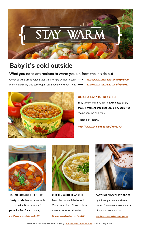 Free Recipe Newsletters Clean Eating