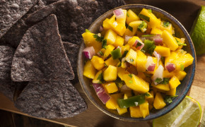 Fresh Homemade Mango Salsa.