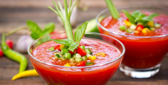 Tomato Cucumber Gazpacho Recipe