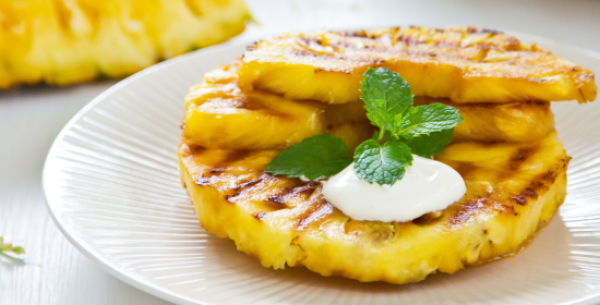Grilled Maple-Chipotle Pineapple Rings Recipe — Dishmaps