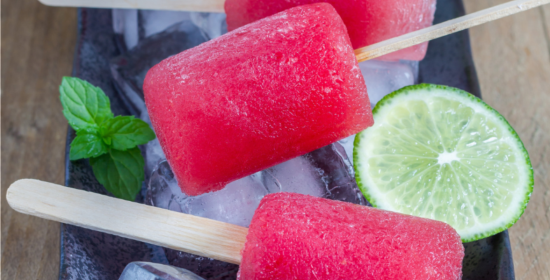 Watermelon Dragon Fruit Popsicles