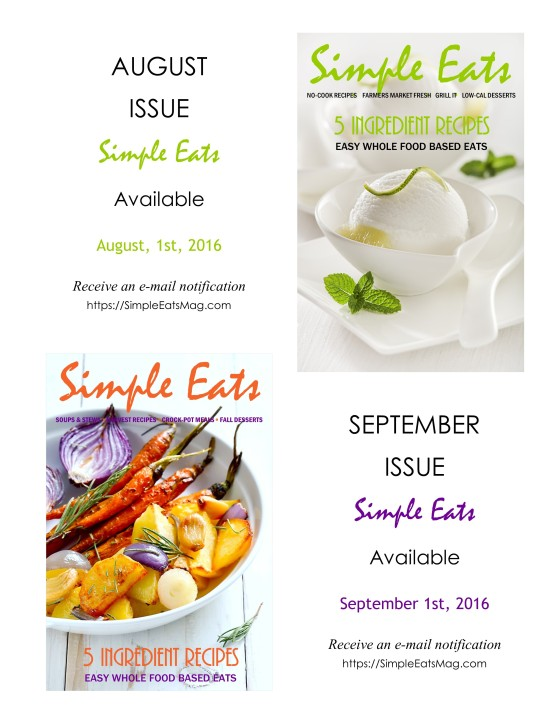Simple Eats NEW Issues Coming Soon